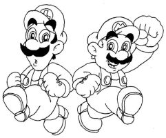 Da Mario Brothers by Beau-Skunk