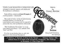 RELEASE NOTICE - CLOCKHAVEN CHRONICLES 3rd Edition by PennyGaffPublishing