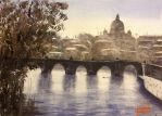 Vatican Hill, Tiber by Xandyclause