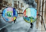 look at life through red tinted glasses by Andela1998
