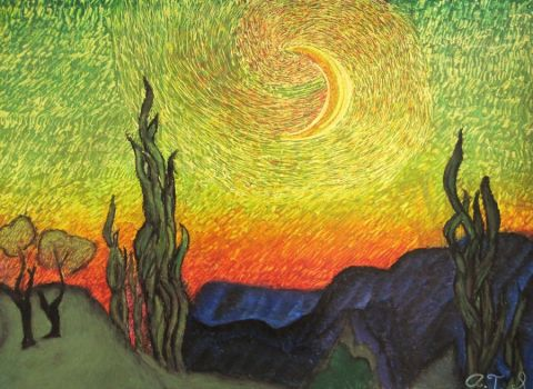 Clash Between Day and Night by Trufanova