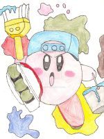 Paint Kirby by LordExDeath