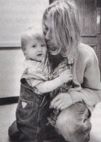 kurt cobain and his daughter by s-h-i-r
