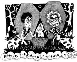 Beetlejuice Vs Barnabas ( the Odd Couple) by Ouijaplayer