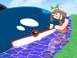 Kyogre x May by ErinPrimette