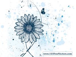 Vector Flower Watercolor Background by 123freevectors