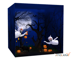 Halloween scenery for XNALara by deexie