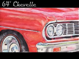 1964 Chevelle Close Up by FastLaneIllustration