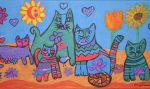 flower power cats by ingeline-art