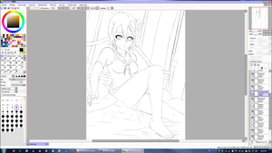 Elenita in Bed WIP by jetfree730