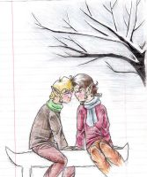 Frodo and Sam in winter by Mistress-D
