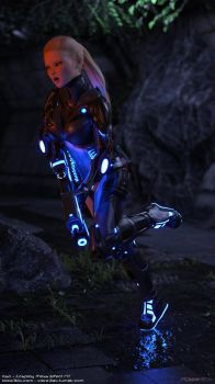 Irisa-cosplay-mass-effect-n7-002a by Clare3Dx