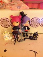 Hi Hi Puffy AmiYumi figures by DarkRoseDiamond123