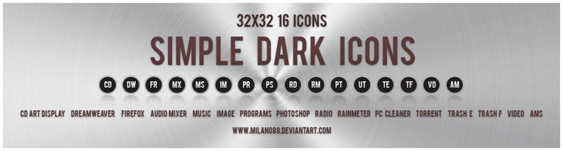 Simple Dark Icons by milano88