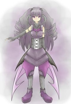 Amethyst - Black Rock Shooter OC by Camellian-leaves
