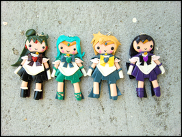 Outer Senshi Charms by GrandmaThunderpants