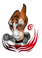 Mordin Solus tattoo by Northwolf89