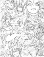 STREET FIGHTER rough 1 by AdamWarren