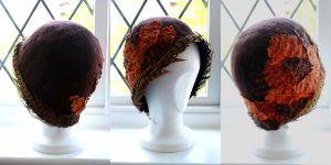 handmade cloche hat by SophieClare