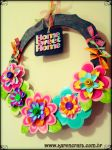 Paper flower wreath by KarenKaren
