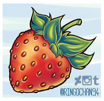 Strawberry (tattoo request) by ringochan94