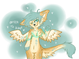 cute angel-anthro OTA [closed] by Lalaloraa