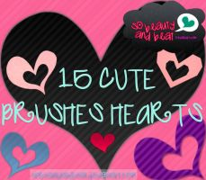 15 Brushes Hearts by SoBeautyAndBeat