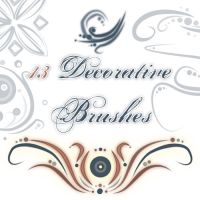 Decorative Brushes by Akissi