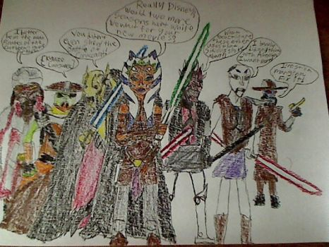 Clone Wars Characters aren't happy... by fmagirl17