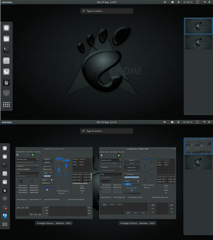 Gnome Dark Theme Accessory Pack by cbowman57