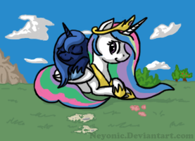 Celestia and Luna by Neyonic