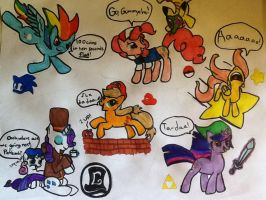 Nintendo Ponies (Old) by Zorobutt