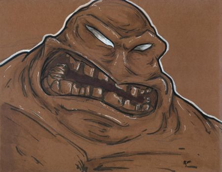 Lunchtime Sketch: Clayface by aReino