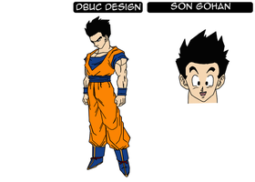 Gohan Character Design Sheet by darkhawk5