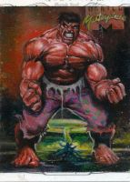 marvel masterpieces sketch card 1 by charles-hall