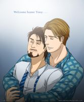 (COMMISSION #21) Welcome home Tony by Tsuki-Nekota