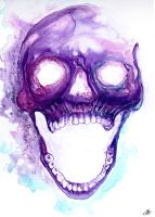 Purple Skull by clement-stahl