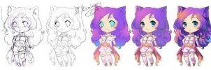how to draw chibi by kaminary-san
