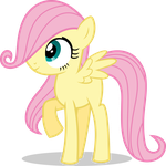 Mlp Fim filly fluttershy (hmm...) vector by luckreza8
