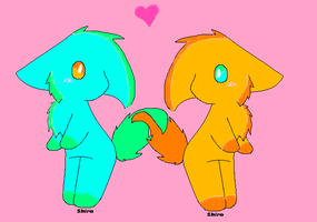 2 Cute animals recolored by luv luv base by WhirlwindTheHedgehog