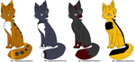 wolf adoptables by Leafstripe77