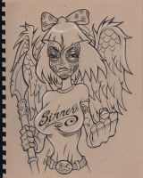Angel_SKETCH SESSION 9_7_2011 by CaziTena