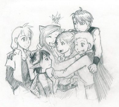 Welcome Home Group Hug by kolidescope