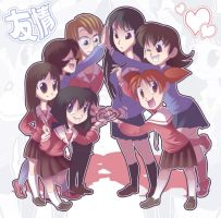 The Azumanga Gang by Drpepperfanguy