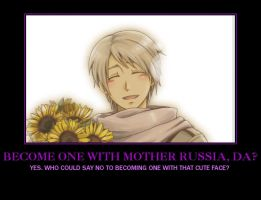 Russia Hetalia Motivational Poster by NightmareNox