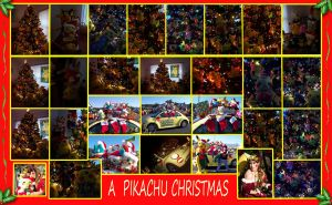 Deck the Halls with Pikachu by pikabellechu