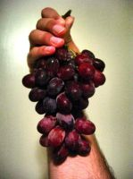 Bundle of Grapes in My Hand by crotafang