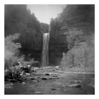 2014-253 Taughannock Falls from below, 1963 by pearwood