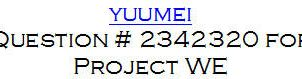 Yuumei Project WE question by meowmeep499