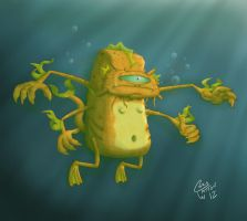 Gold fish monster 2 by Junkborgs